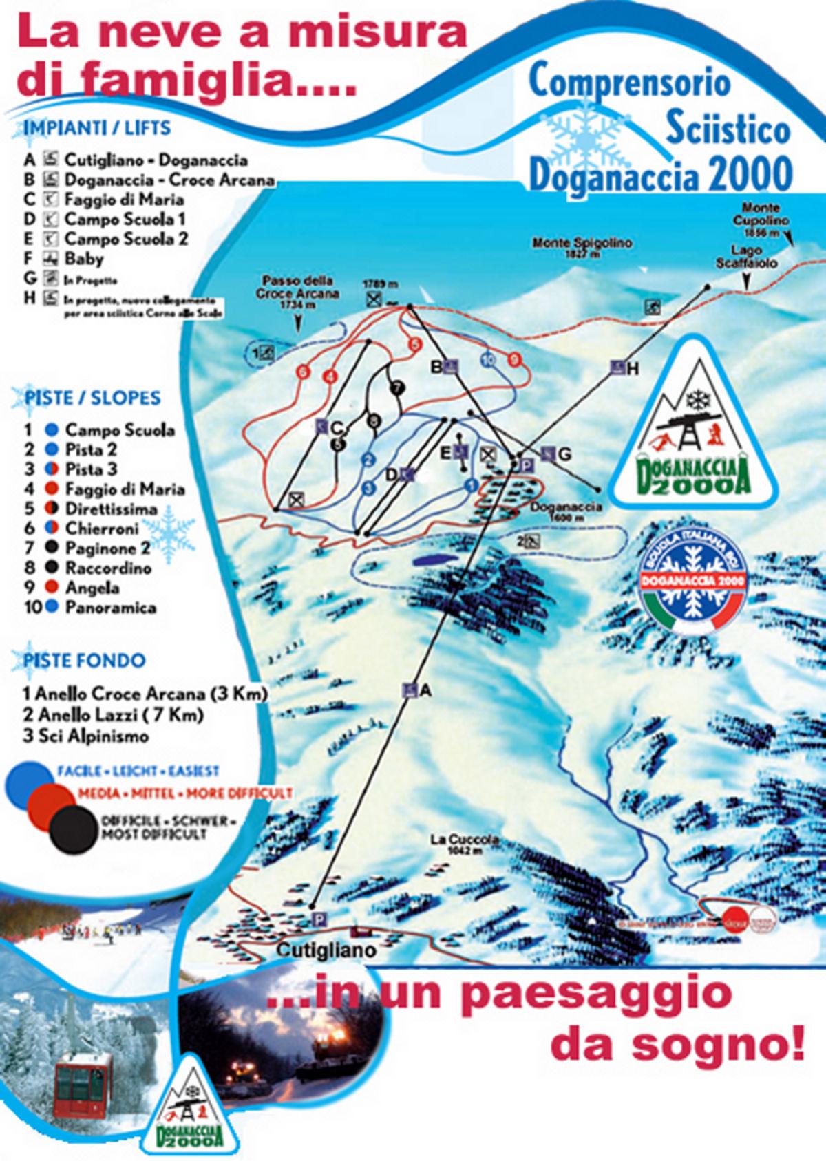 Doganaccia Montagna Pistoiese Piste da sci